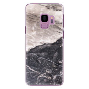 Plastové pouzdro iSaprio BW Mramor na mobil Samsung Galaxy S9