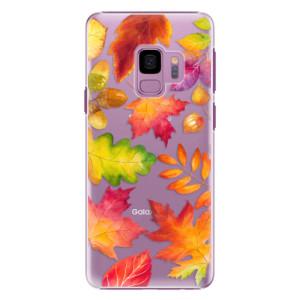 Plastové pouzdro iSaprio Autumn Leaves 01 na mobil Samsung Galaxy S9