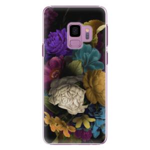 Plastové pouzdro iSaprio Temné Květy na mobil Samsung Galaxy S9