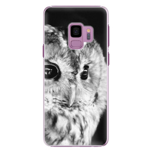 Plastové pouzdro iSaprio BW Sova na mobil Samsung Galaxy S9