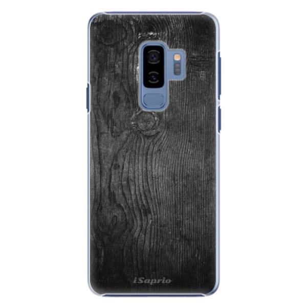 Plastové pouzdro iSaprio black Wood 13 na mobil Samsung Galaxy S9 Plus (Plastový obal, kryt, pouzdro iSaprio black Wood 13 na mobilní telefon Samsung Galaxy S9 Plus)