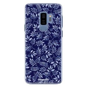 Plastové pouzdro iSaprio Blue Leaves 05 na mobil Samsung Galaxy S9 Plus