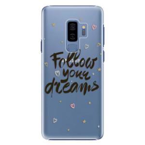 Plastové pouzdro iSaprio Follow Your Dreams černý na mobil Samsung Galaxy S9 Plus