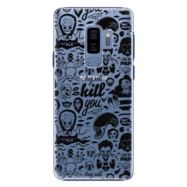 Plastové pouzdro iSaprio Komiks 01 black na mobil Samsung Galaxy S9 Plus (Plastový kryt, obal, pouzdro iSaprio Komiks 01 black na mobilní telefon Samsung Galaxy S9 Plus)