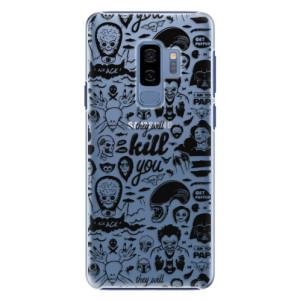 Plastové pouzdro iSaprio Komiks 01 black na mobil Samsung Galaxy S9 Plus