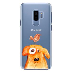 Plastové pouzdro iSaprio Pejsek a Ptáček na mobil Samsung Galaxy S9 Plus