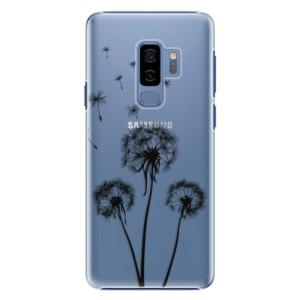 Plastové pouzdro iSaprio Tři Černé Pampelišky na mobil Samsung Galaxy S9 Plus
