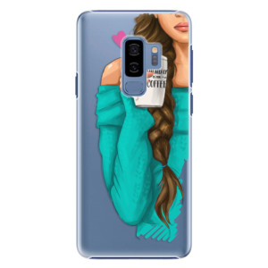 Plastové pouzdro iSaprio Brunetka s kafčem na mobil Samsung Galaxy S9 Plus
