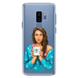 Plastové pouzdro iSaprio Coffee Now Brunetka na mobil Samsung Galaxy S9 Plus