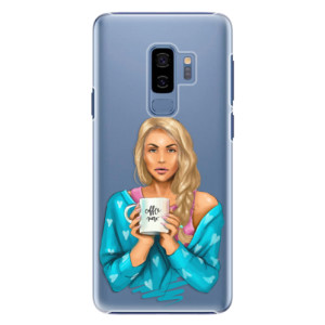 Plastové pouzdro iSaprio Coffee Now Blondýna na mobil Samsung Galaxy S9 Plus