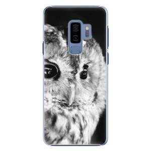 Plastové pouzdro iSaprio BW Sova na mobil Samsung Galaxy S9 Plus