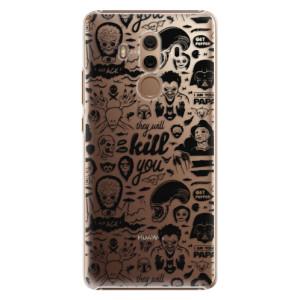 Plastové pouzdro iSaprio Komiks 01 black na mobil Huawei Mate 10 Pro