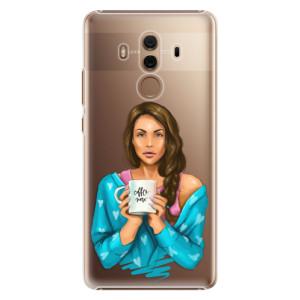 Plastové pouzdro iSaprio Coffee Now Brunetka na mobil Huawei Mate 10 Pro