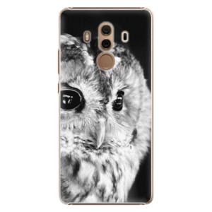 Plastové pouzdro iSaprio BW Sova na mobil Huawei Mate 10 Pro