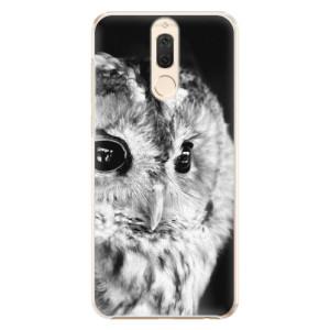 Plastové pouzdro iSaprio BW Sova na mobil Huawei Mate 10 Lite