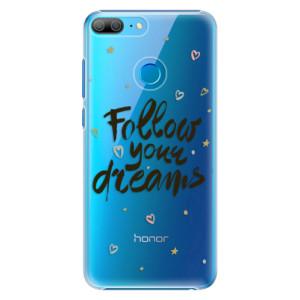 Plastové pouzdro iSaprio Follow Your Dreams černý na mobil Honor 9 Lite