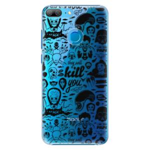 Plastové pouzdro iSaprio Komiks 01 black na mobil Honor 9 Lite