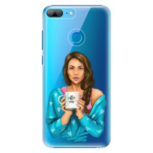 Plastové pouzdro iSaprio Coffee Now Brunetka na mobil Honor 9 Lite
