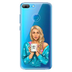 Plastové pouzdro iSaprio Coffee Now Blondýna na mobil Honor 9 Lite