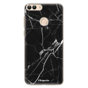 Plastové pouzdro iSaprio Black Marble 18 na mobil Huawei P Smart