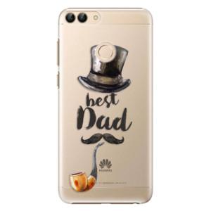 Plastové pouzdro iSaprio Best Dad na mobil Huawei P Smart