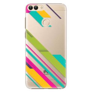 Plastové pouzdro iSaprio Barevné Pruhy 03 na mobil Huawei P Smart