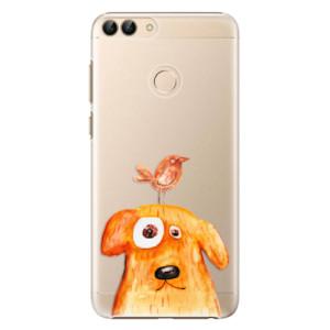 Plastové pouzdro iSaprio Pejsek a Ptáček na mobil Huawei P Smart