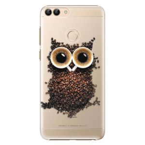 Plastové pouzdro iSaprio Sova Káva na mobil Huawei P Smart