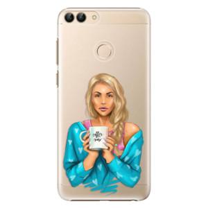 Plastové pouzdro iSaprio Coffee Now Blondýna na mobil Huawei P Smart