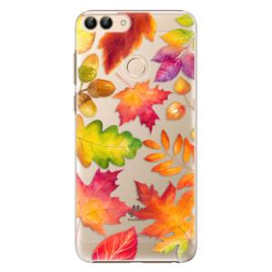 Plastové pouzdro iSaprio Podzimní Lístečky na mobil Huawei P Smart