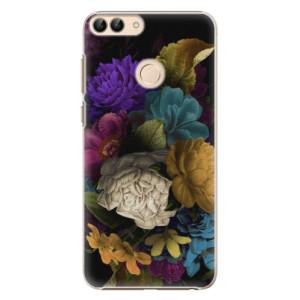 Plastové pouzdro iSaprio Temné Květy na mobil Huawei P Smart