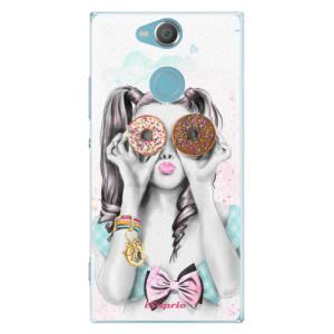 Plastové pouzdro iSaprio Donutky Očiska 10 na mobil Sony Xperia XA2