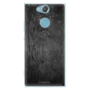Plastové pouzdro iSaprio Black Wood 13 na mobil Sony Xperia XA2