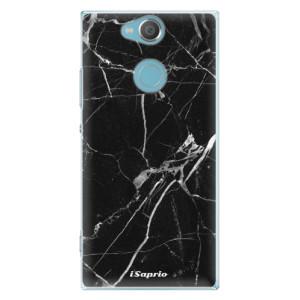 Plastové pouzdro iSaprio Black Marble 18 na mobil Sony Xperia XA2