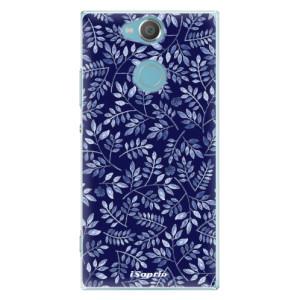 Plastové pouzdro iSaprio Blue Leaves 05 na mobil Sony Xperia XA2