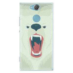 Plastové pouzdro iSaprio Naštvanej Medvěd na mobil Sony Xperia XA2