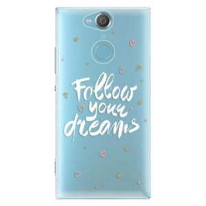 Plastové pouzdro iSaprio Follow Your Dreams bílý na mobil Sony Xperia XA2