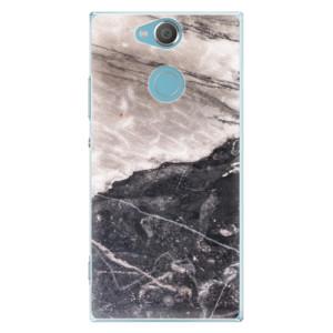 Plastové pouzdro iSaprio BW Mramor na mobil Sony Xperia XA2