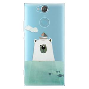 Plastové pouzdro iSaprio Medvěd s Lodí na mobil Sony Xperia XA2