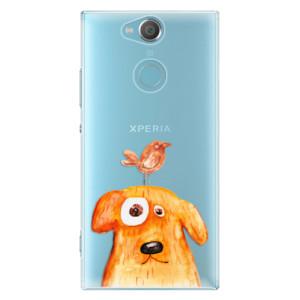 Plastové pouzdro iSaprio Pejsek a Ptáček na mobil Sony Xperia XA2