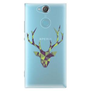 Plastové pouzdro iSaprio Zelený Jelínek na mobil Sony Xperia XA2