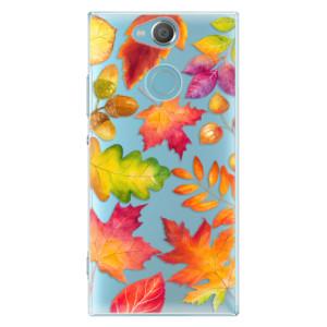 Plastové pouzdro iSaprio Podzimní Lístečky na mobil Sony Xperia XA2