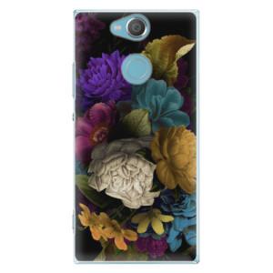 Plastové pouzdro iSaprio Temné Květy na mobil Sony Xperia XA2