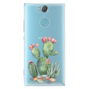 Plastové pouzdro iSaprio Kaktusy 01 na mobil Sony Xperia XA2