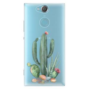 Plastové pouzdro iSaprio Kaktusy 02 na mobil Sony Xperia XA2