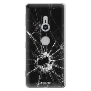 Plastové pouzdro iSaprio Broken Glass 10 na mobil Sony Xperia XZ2
