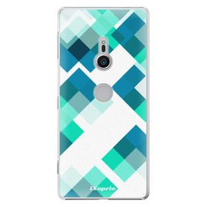 Plastové pouzdro iSaprio Abstract Squares 11 na mobil Sony Xperia XZ2