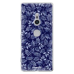 Plastové pouzdro iSaprio Blue Leaves 05 na mobil Sony Xperia XZ2