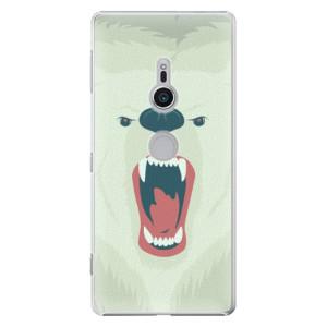 Plastové pouzdro iSaprio Naštvanej Medvěd na mobil Sony Xperia XZ2