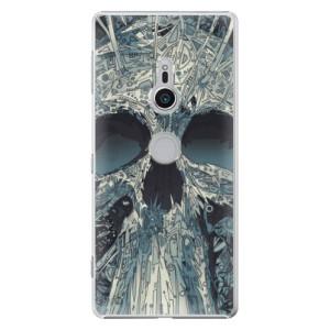 Plastové pouzdro iSaprio Abstract Skull na mobil Sony Xperia XZ2